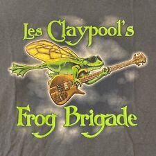 Vintage Les Claypool's Frog Brigade Short Sleeve T Shirt L Gildan Ultra Cotton