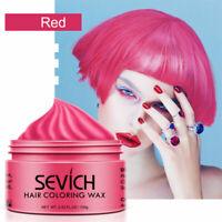 8 Colors Hair Wax Hair Clay Dye Temporary Color Styling Hair Care Moisturzing