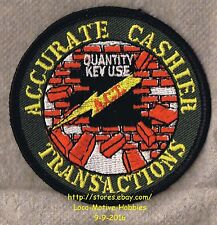 LMH PATCH Badge  HOME DEPOT ACT Award  ACCURATE CASHIER TRANSACTIONS Key Use Qty