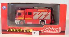 Schuco 1/87 21701 Mercedes Benz Actros Rüstwagen Feuerwehr OVP #43