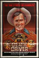 "DEATH DRIVER Rex Randolph ORIGINAL1977 ONE SHEET MOVIE POSTER 27"" x 41"""
