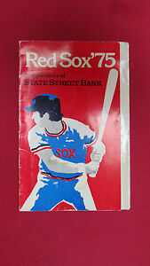 BOSTON RED SOX 1975 BASEBALL SCHEDULE W/ FENWAY MAP &PRICES