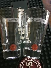 Set JJ&S John Jameson & Son Limited Red Label Tall Whiskey Glasses