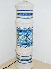 Italian Bitossi for Raymor Blue Green Pottery Lamp Mid Century Modern Italy VTG