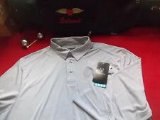 Pga Tour Performance Ls Golf Polo - L - Nwt - Top Quality - $60 - Gray Heather