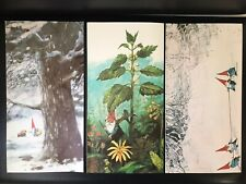lot of three Unused Vintage 1976 large Rien Poortvliet Gnomes notecards