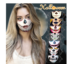 NEW HALLOWEEN LADIES DAY OF THE DEAD FACE MASK COVERING REUSABLE UK SELLER