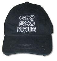 Goo Goo Dolls Outline Logo Black Baseball Cap Hat New Official Adult Distressed