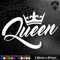 Queen Car Window Sticker Bumper Decal JDM Drift DUB Euro Laptop Stance Girl