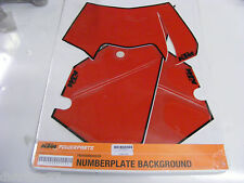 kit stickers fond de plaque numéro rouge KTM EXC  2008-2011  ref:7800808800038