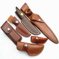 Leather Knife Sheath Fixed Blade Bag For Knife Black Brown Protective Cover Tool