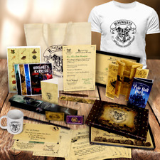 Personalised Harry Potter Set Christmas Tshirt Mug Wand Quill Bag Letter Gifts
