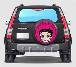 Spare Wheel Cover 4x4 Graphic Sticker  RETRO  BETTY BOO BOOP 550MM