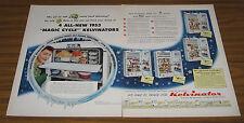 1953 Vintage Ad Kelvinator Magic Cycle Refigerators 4 Models Shown