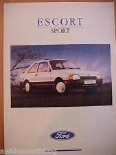 Ford Escort Sport Sales Folder FA921 July 1989 UK Market