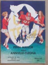 PENN MANOR vs ANNVILLE CLEONA 1978 HIGH SCOOL PROGRAM