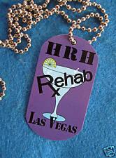 New listing Las Vegas Hotel Prototype Sample Purple *Rehab* Dog Tag Chain Hard Rock Cafe
