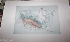 Raol Dufy Original Aquatint Etching of the Bathers (Baigneuse) Signed
