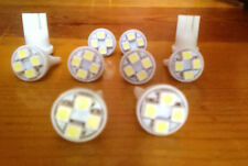 10 White Mercury *SUPER BRIGHT 12V LED 194 Wedge Instrument Panel Light Bulb NOS