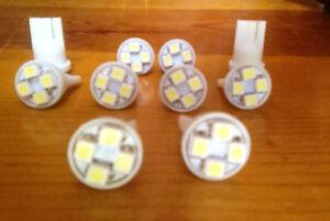 10 White Mercury *SUPER BRIGHT 12V LED 194 Wedge Instrument Panel Light Bulb NOS