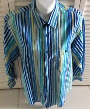 MISSONI Striped Shirt 100% Cotton Long Sleeved 48 euro Made in Italy