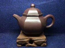 Chinese Old Yixing Zisha Zi Ni Di Chao Qing Hexagon Shape Teapot  - 250ml