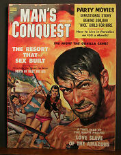 Man's Conquest August 1958 Resort That Sex Built Love Slaves Of the Amazons More