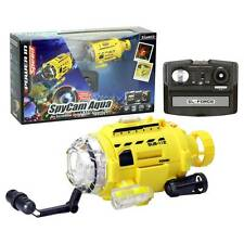 SpyCam Aqua Rc Radio Remote Control Toy Submarine with Camera and Led Light 4.4""