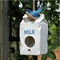 Milk Carton Wild Bird House Garden Nesting Home Box for Small Garden Birds Robin