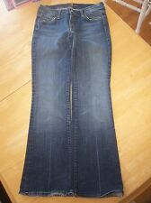 7 SEVEN FOR ALL MANKIND JEROME DAHAN WOMEN'S BLUE JEANS BOOTCUT 28 MADE IN USA