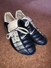 Nike Total 90 Air Zoom ii Navy/Silver SG Size 8 Football Boots