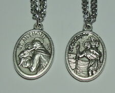 "St Christopher & St Anthony of Padua Holy Medal on 24"" Chain Travelers & Babies!"
