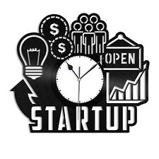 Startup Vinyl Wall Clock Souvenir Unique Gift for Friends Home Room Decoration