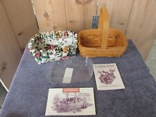 1996 Longaberger American Cancer Society Horizon of Hope Basket W/Liner w/Plast.