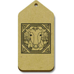 'Square Cow Motif' Gift / Luggage Tags (Pack of 10) (TG007213)