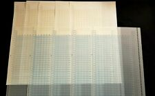 BROTHER RARE KH940 KH950 KA7067 BLANK BLUE MYLAR PATTERN DESIGN SHEET & GRAPH X5