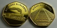 THE PRINCESS ELIZABETH Steam Engine Collectable Medal/Token, 24ct Gold, Railway