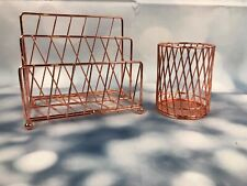 Rose gold Desk Set Organizer