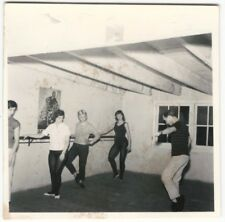 1960s Young Women Dancers Watch Male Instructor Snapshot