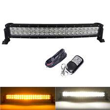 "22"" Amber/White Dual Color Led Offroad Light Bar Fog Strobe Warning & Wiring Kit"