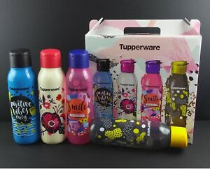 NEW Tupperware Limited Cool N Chic Eco Bottles Gift Box Set + Free Express