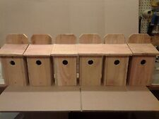 6 BLUEBIRD CEDAR BIRD HOUSE NEW HANDMADE 5/8 CEDAR