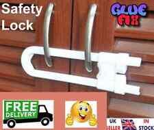 Child Safety Door Cabinet Cupboard Baby Drawer Security Lock  Slip Lock. OFFER