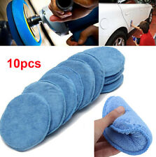 10pcs Polish Foam Sponge Car Applicator Cleaning Microfiber Waxing Pad Detailing