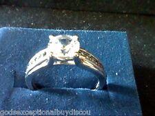 SAPPHIRE BLACK DIAMOND WEDDING ENGAGEMENT RING SZ 4 SZ 5 SZ 6 SZ 7 SZ 8 SZ 9