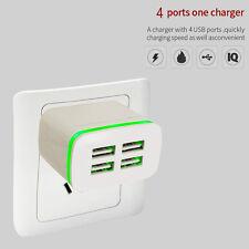 4 Port 5V/4A LED USB Home Travel Schnell Ladegerät Power Adapter Universal NEU