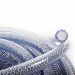 19mm PVC Fibre Renforcé Tressé Tube Plastique Transparent Tuyau - Choix Longueur
