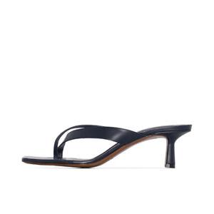 Women's 50 mm Kitten Heel Sandals Slippers Leather Shoes Flip Flops US Size 2~12