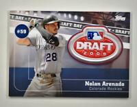 2020 Topps Series 2 Draft Day Medallion #DDM-NA Nolan Arenado - Colorado Rockies