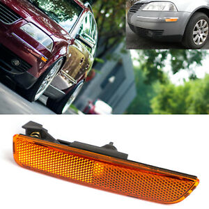Left Amber Front Bumper Side Marker Lights For 2001-2005 VW Passat B5.5 T3